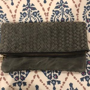 Anthropologie Gray Clutch with Removable Strap